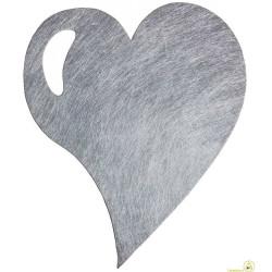 Tovaglietta natalizia argento cuore pz 6