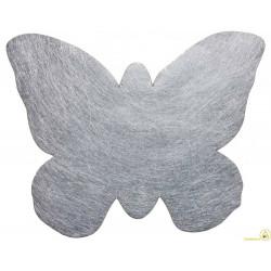 Tovaglietta natalizia argento farfalla pz 6