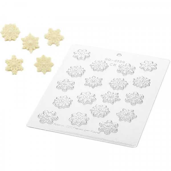 Stampo cioccolato a forma di Fiocchi di Neve in policarbonato da Silikomart