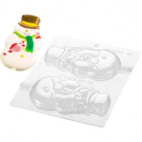 Stampo cioccolato Pupazzo di neve su stecco in policarbonato