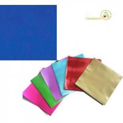 Incarti per cioccolatini Formatelli in alluminio Blu lucido 10 cm x 10 cm da 50 g 120 fogli