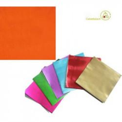 Incarti per cioccolatini Formatelli in alluminio Arancione lucido 10 x 10 cm da 50 g 120 fogli