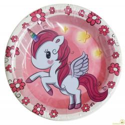 Piatto piccolo unicorno 17 cm 6 pz