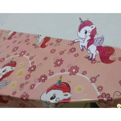 Tovaglia tema unicorno 108x180 cm