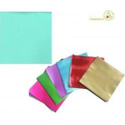 Incarti per cioccolatini Formatelli in alluminio tiffany o verde acqua 10 cm x 10 cm da 50 g 120 fogli