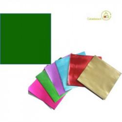 Incarti per cioccolatini Formatelli in alluminio verde scuro o verde bosco 10 cm x 10 cm da 50 g 120 fogli