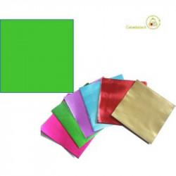 Incarti per cioccolatini Formatelli in alluminio verde chiaro o verde prato 10 cm x 10 cm da 50 g 120 fogli
