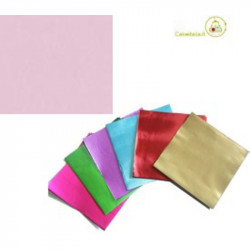 Incarti per cioccolatini Formatelli in alluminio rosa cipria 10 cm x 10 cm da 50 g 120 fogli