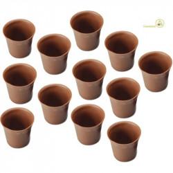 12 Cialde Bicchierini di Finissimo Cioccolato a Latte