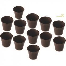 12 Cialde Bicchierini di Cioccolato Extra Fondente