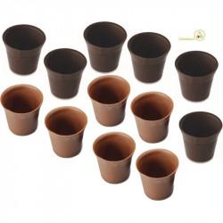 12 Cialde Bicchierini di Cioccolato a Latte e Fondente