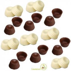 12 Cialde Scodelline Cioccolato  Extra Fondente e 12 Cialde Scodelline Cioccolato Bianco o Scodelline Puro Avorio