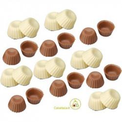 Scodelline di Cioccolato a Latte e Cioccolato Bianco