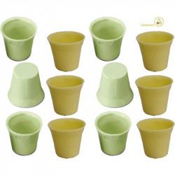 12 Cialde Bicchierini Cioccolato Verdi gusto Limone e Cioccolato Bianco