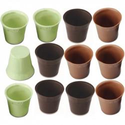 12 Cialde Bicchierini Cioccolato Verdi gusto Limone e Cioccolato al latte e fondente