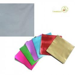 Incarti per cioccolatini Formatelli in alluminio color argento 10 x 10 cm da 50 g 120 fogli