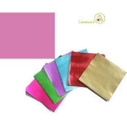 Incarti per cioccolatini Formatelli in alluminio rosa 10 cm x 10 cm da 50 g 120 fogli
