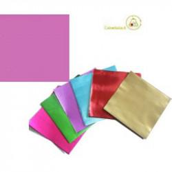 Incarti per cioccolatini Formatelli in alluminio rosa ciclamino 10 cm x 10 cm da 50 g 120 fogli