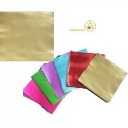 Incarti per cioccolatini Formatelli in alluminio color oro 10 x 10 cm da 50 g 120 fogli