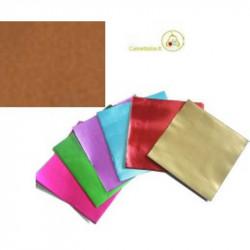 Incarti per cioccolatini Formatelli in alluminio color Rame 10 x 10 cm da 50 g 120 fogli