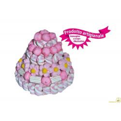 Torta Marshmallow Piccola Rosa 580 gr
