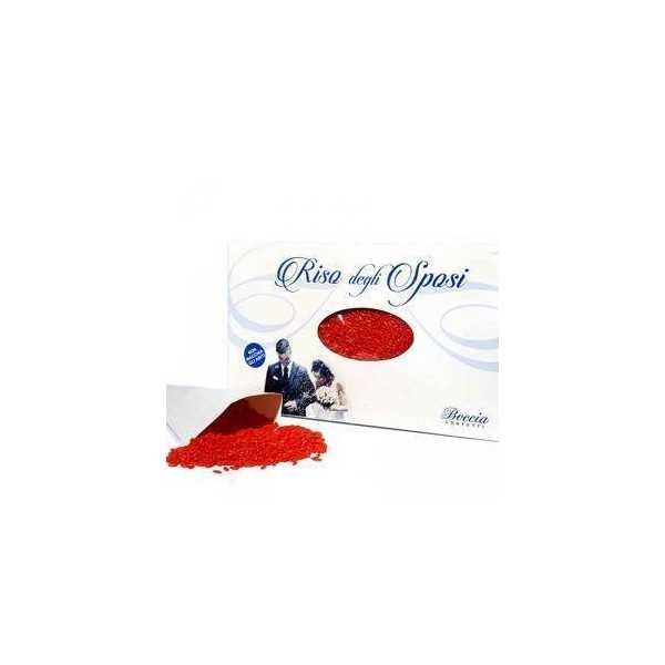 Riso da lanciare agli Sposi o Riso per Matrimoni 500 g colore Rosso