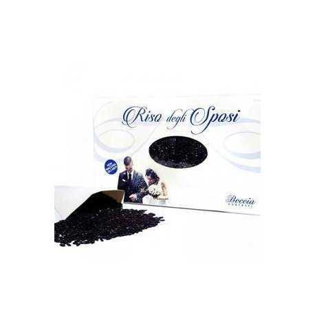 Riso da lanciare agli Sposi o Riso per Matrimoni 500 g colore Nero