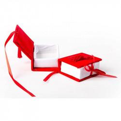 Scatoline Portaconfetti Libro Laurea in velluto e nappina Rossa