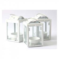 Lanterna tealight portacandela cm 9x5x5 colore bianco