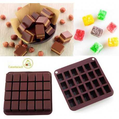 Stampo in Silicone per Cioccolatini Cremino e Caramelle Toffee da 15 cm