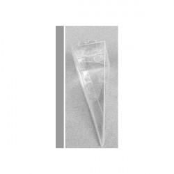 """Cono portaconfetti portariso trasparente in PVC """"Cono"""" 4x4x10cm 10pz"""