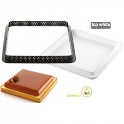 Kit Stampo ad Anello per Crostata e Torta Quadrata o Tarte Ring Square da 20 cm
