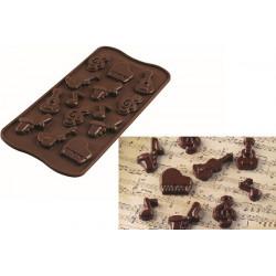 Stampo cioccolatini tema musicale Choco Melody