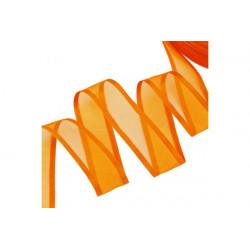 Nastro Arancione in Organza bordato in Raso 20mmx30mt