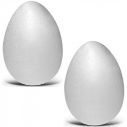 2 Uova in Polistirolo h 9 cm e diametro 5,5 cm