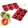 Stampo per 6 ciambelle grandi o 6 donuts grandi dal diametro di 7,5 cm in silicone da Silikomart