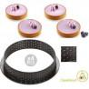 4 Stampi ad anello micro-forato per crostate o torte tonde tarte ring da 10 cm di Silikomart