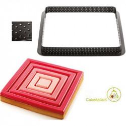 Tarte Ring Square Anello micro-forato di 200 mm da Silikomart