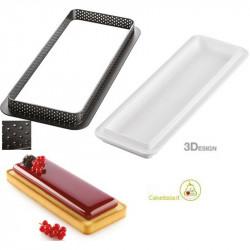 Kit Stampo ad Anello Rettangolare per Crostata e Torta o Kit Tarte Ring Rectangular da 27 cm
