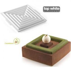 Stampo in Silicone Insert Decor Square o Inserto Decoro Quadrato da Silikomart