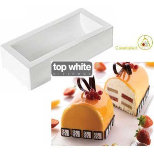 Stampo in Silicone Tronchetto Tortaflex Buche Bianco 25 cm