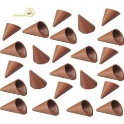 Cialde coni di finissimo cioccolato al latte