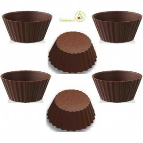 6 Cialde Tartellette di Cioccolato Extra Fondente