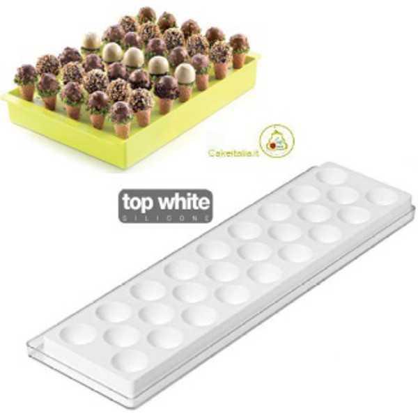 Stampo per gelati Kono da Silikomart a forma di semisfera per cialda a forma di cono
