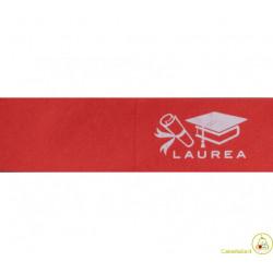 5 bigliettini per bomboniere stampabili Laurea Tema Tocco Bianco