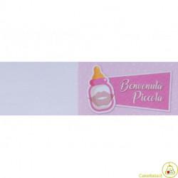 5 bigliettini per bomboniere stampabili Nascita Battesimo Tema Biberon Rosa