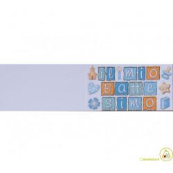 5 bigliettini per bomboniere stampabili Nascita Battesimo Tema Quadratini Celeste