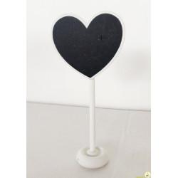 Lavagnetta segnaposto/segnagusto cuore cm 6x13
