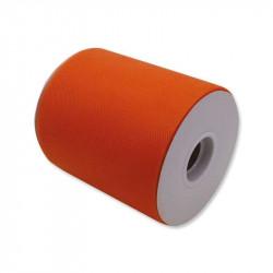 Rotolo Tulle da 12,5 cm x 100 m colore Arancione