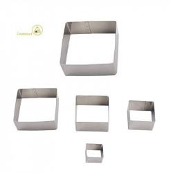 Set 5 Cutter tagliapasta quadrati in metallo h 1 cm x 2 cm 3,5 cm 4 cm 5 cm 5,5 cm